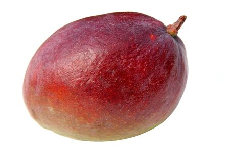 Close-up of red mango isolated over white. Stock Photo