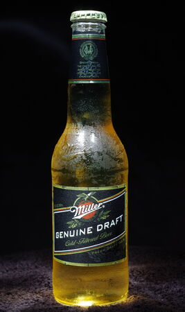 miller: Miller Genuine Draft Bottle