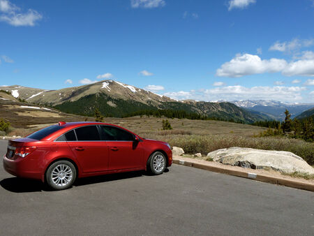mpg: Chevy Cruze with Mountain View Editorial