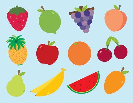 カラフルな果物の様々 な