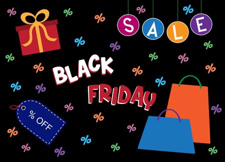 Black Friday verkoop vectorillustratie Stock Illustratie