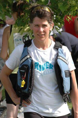 britannia: Meredith Brown, Ottawa Riverkeeper, at the Ottawa Riverkeeper Triathlon 2009 Editorial