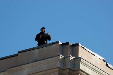 Remembrance Day 2009 - Ottawa, Ontario, Canada - November 11, 2009 - Remembrance Day - Rooftop Security Editorial