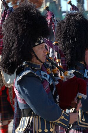 Remembrance Day 2009 - Ottawa, Ontario, Canada - November 11, 2009 - Pipers Stock Photo - 10781387