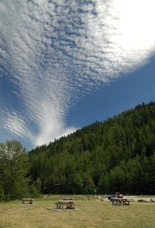 Cloud formations seen at Shuswap Lake, British Columbia.