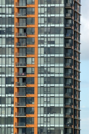 Canada chairs  Patterned windows and balconies on a condominium building in Vancouver, British Columbia