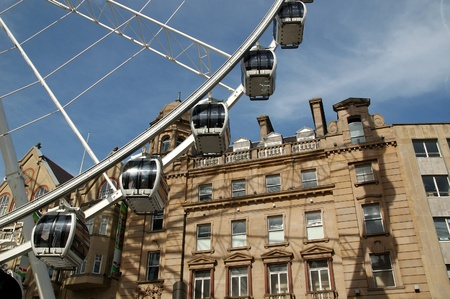 The Wheel of Sheffield in downtown Sheffield, Yorkshire, England. Editorial
