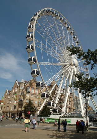sheffield: The Wheel of Sheffield in downtown Sheffield, Yorkshire, England. Editorial