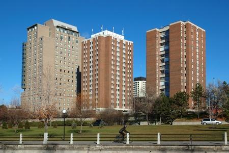 residence: Residence buildings at the University of Ottawa.