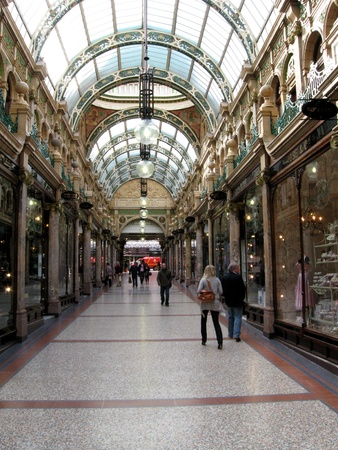 County Arcade in the Victoria quarter of Leeds, Yorkshire, England.