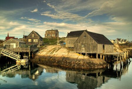 Sheds at Peggys Cove Stock Photo