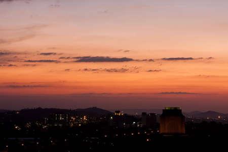 Sunset Landschaft, die mit Blick auf das Voortrekker-Denkmal in Pretoria Standard-Bild - 5430918