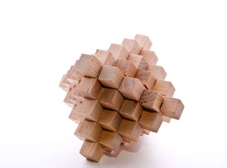 Interlocking Holz Grat isolated on white Standard-Bild - 5688486