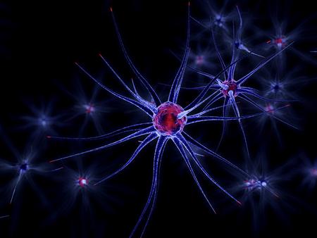 3D Illustration of neuronal cells.