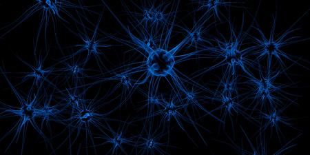 transgenic: Neuronal cells, 3d illustration