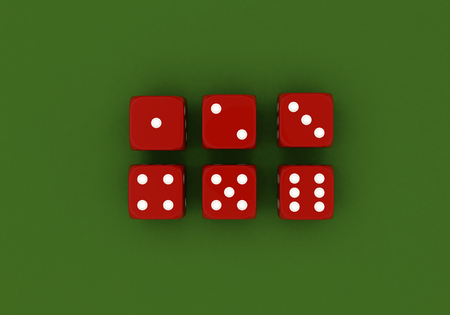 Gamble; Luck; Isolated; Chips; Number; Opportunity; Roll; Poker; Green; White; Blue; Red; Success; Gambling; Win; Background; Play; Dice; Craps; Casino; Betting; Black; Chance; Game; 3d; Risk; Material; 3d render