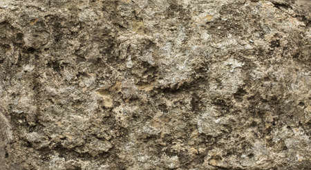 dirty room: Old stone wall background, brick wall grunge texture close up. Stock Photo