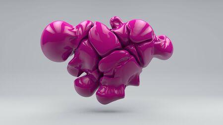heart consisting of molten balls. 3D. Stock fotó