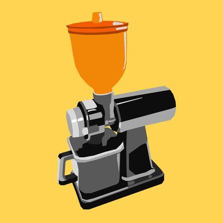 Coffee Grinder Logo Icon Flat