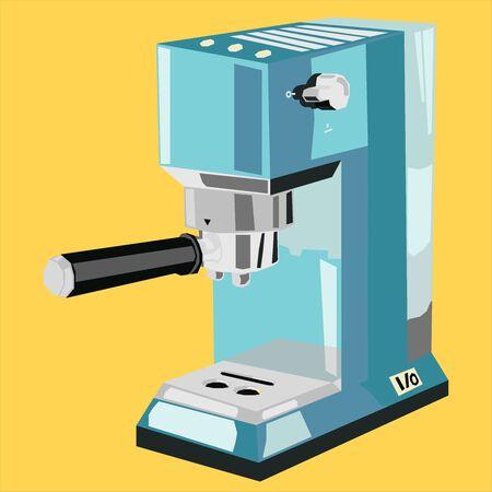 Espresso Machine Logo Icon Flat