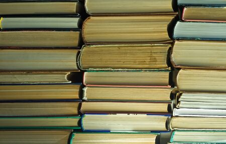 Stack of old books at public library Stock Photo - 9179281