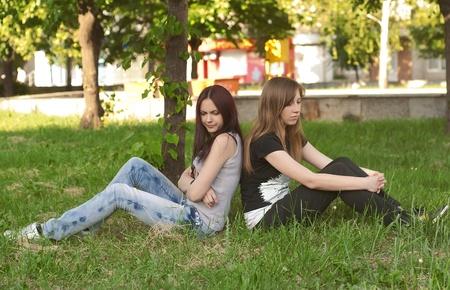 Conflit entre les meilleurs amis Banque d'images - 9818997
