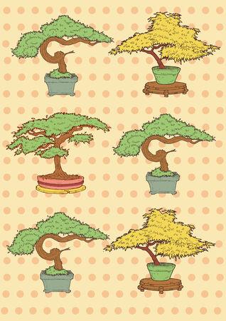 Illustration de vecteur bonsaï Banque d'images - 27561381