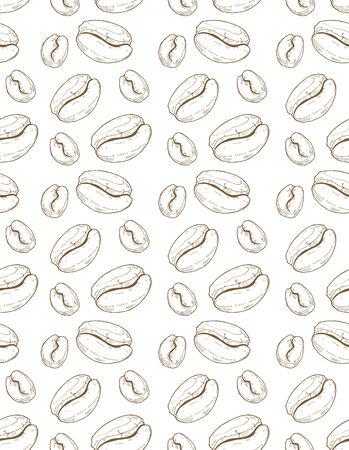 Tiré par la main motif de café transparente Banque d'images - 27564519