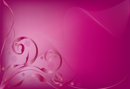 floral backgrounds:  pink background vector illustration