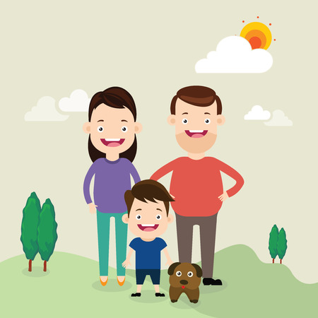 daddy: family Illustration