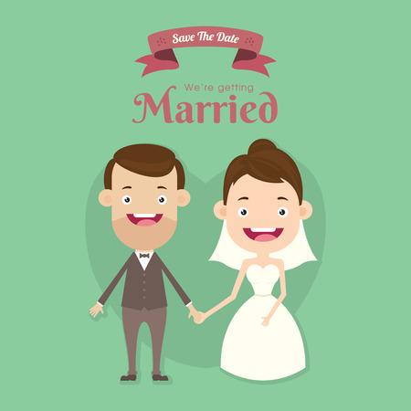 結婚します。  イラスト・ベクター素材