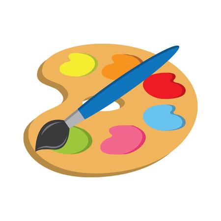 paleta de pintor: paleta de arte