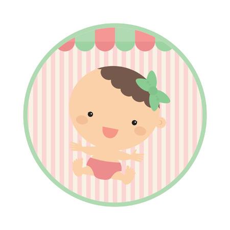 baby girl: cute baby girl scrapbook