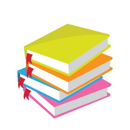 portadas libros: libros de color Vectores