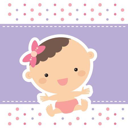baby girl: baby girl with purple background
