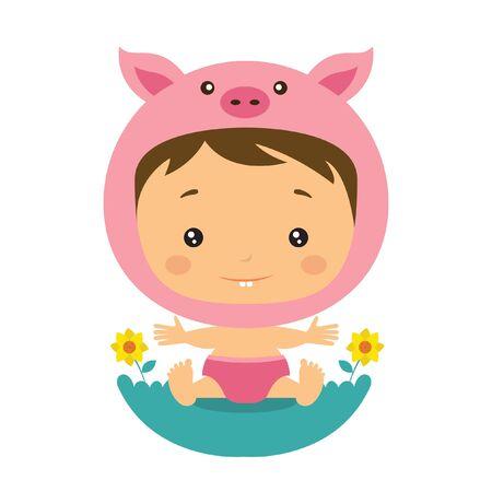 cute pig: cute pig baby