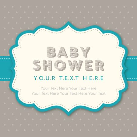 baby boy: baby boy shower template Illustration