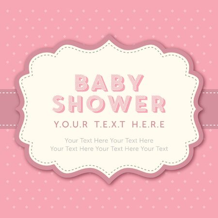 girl in shower: baby girl shower template