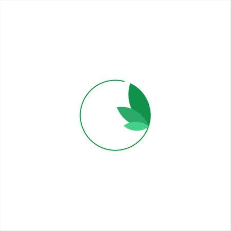Eco Electric Abstract Green Leaf and Leaves logo Icon Vector Design. Landscape Design, Garden, Plant, Nature, Health and Ecology Vector Logo Illustration.
