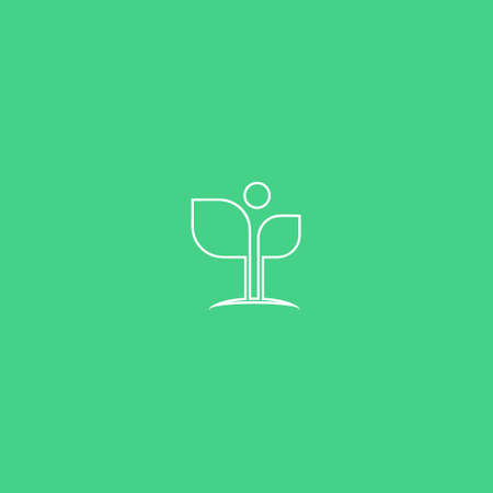 Abstract Green Leaf and Leaves logo Icon Vector Design. Landscape Design, Garden, Plant, Nature, Health and Ecology Vector Logo Illustration.