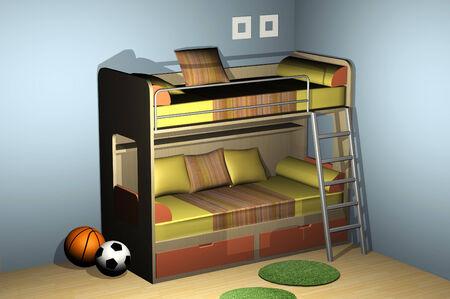 bunkbed: Bedroom