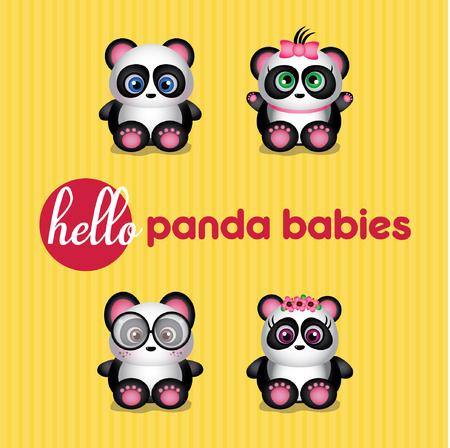 Hello Cute Panda Babies