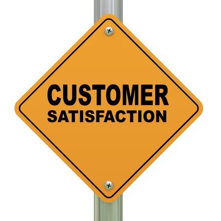 customer satisfaction: 3d Illustration of customer satisfaction road sign