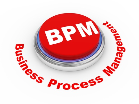 3d illustration of bpm business process management button  illustration