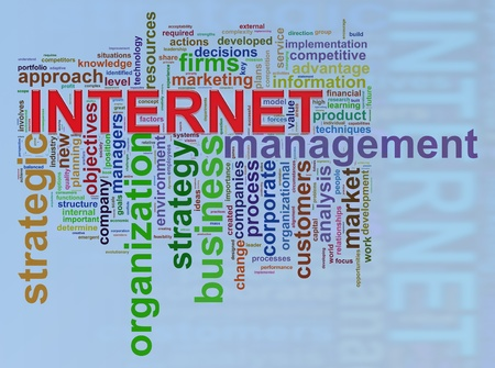 hypertext: Illustration of background of wordcloud word tags of internet