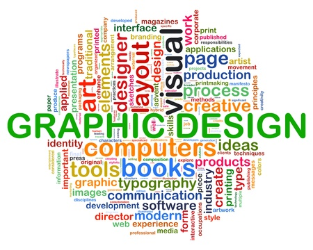 Illustration of Words tag of concept web design