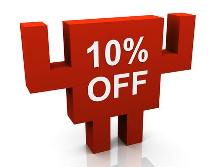 3d 10  off promotional sign photo