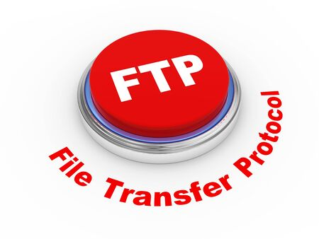 data transmission: 3d illustration of FTP   File transfer Protocol   button Stock Photo