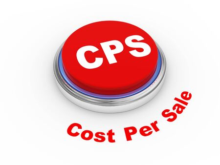 cpl: 3d illustration of cps cost per sale button