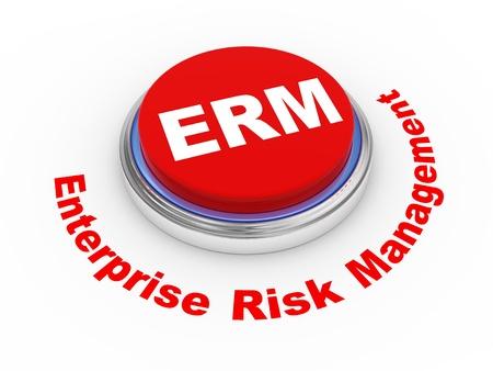 risk management: 3d illustration of erm enterprise risk management button   Stock Photo